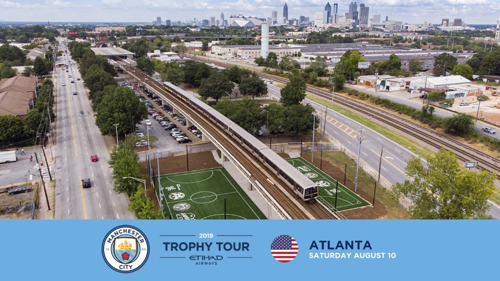 STATESIDE: The Manchester City trophy tour will visit Atlanta in August 2019.