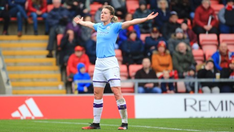 WHITE HOT: Ellen White celebrates in front of the jubilant City fans