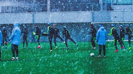 WINTER WONDERLAND: Tuesday training at the CFA