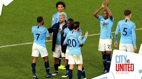 DEMOLITION DERBY: Fernandinho has praised City's performance in the Manchester derby
