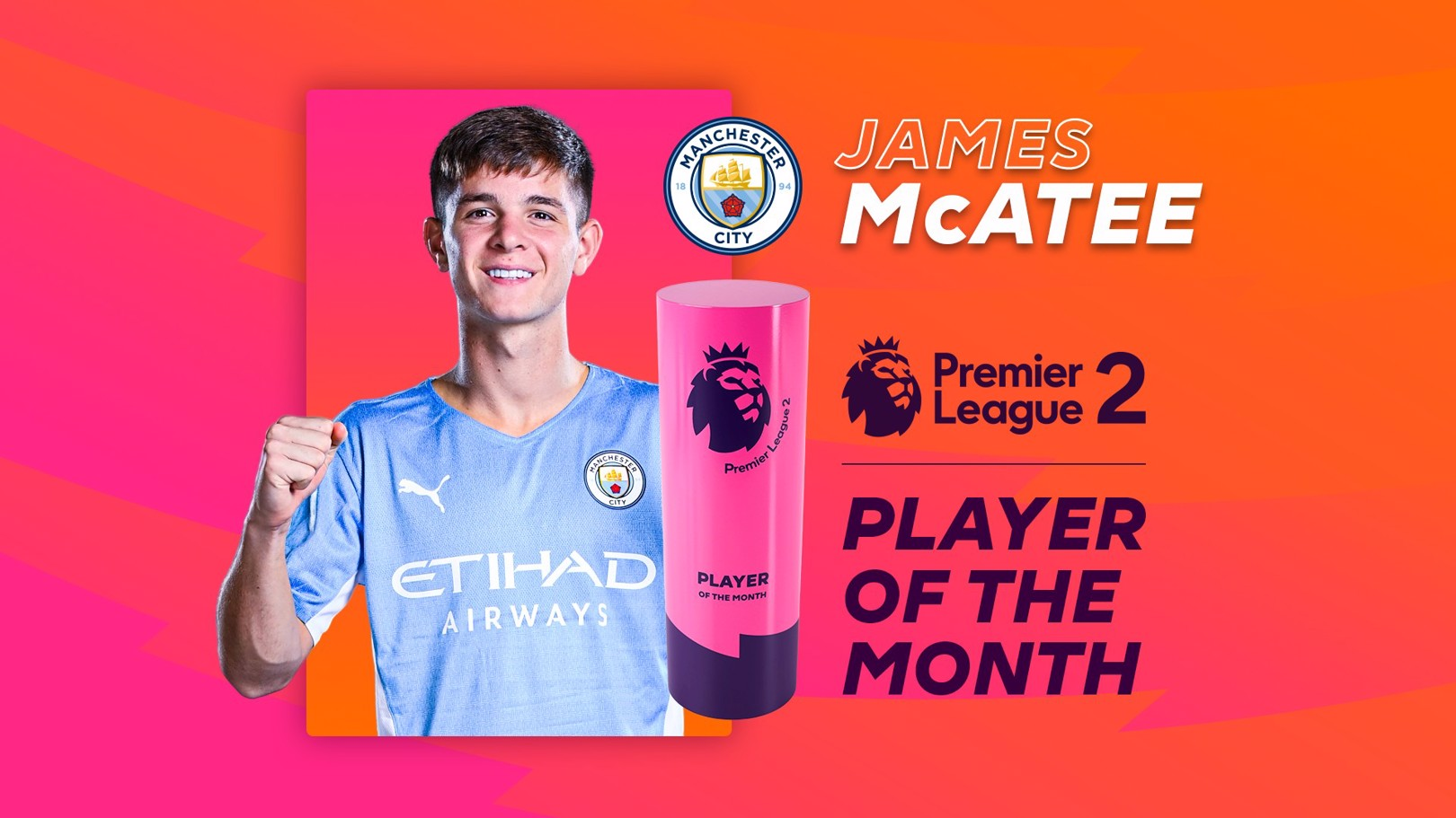 McAtee named PL2 Player of the Month