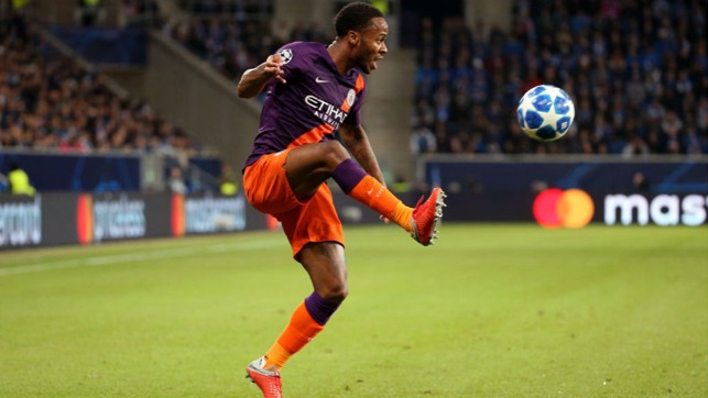 EURO FIGHTER : Raheem Sterling brings the ball under control
