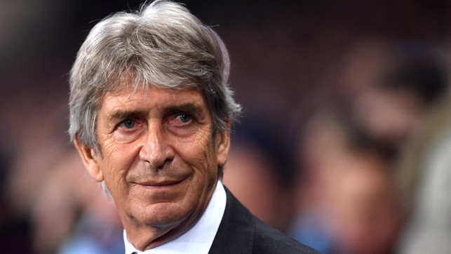 THIS CHARMING MAN : Manuel Pellegrini received a warm welcome on his return to the Etihad