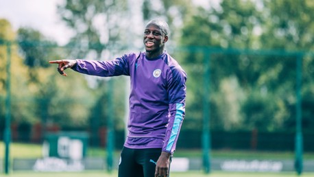 BACK: Great to see Benjamin Mendy back amongst the squad.