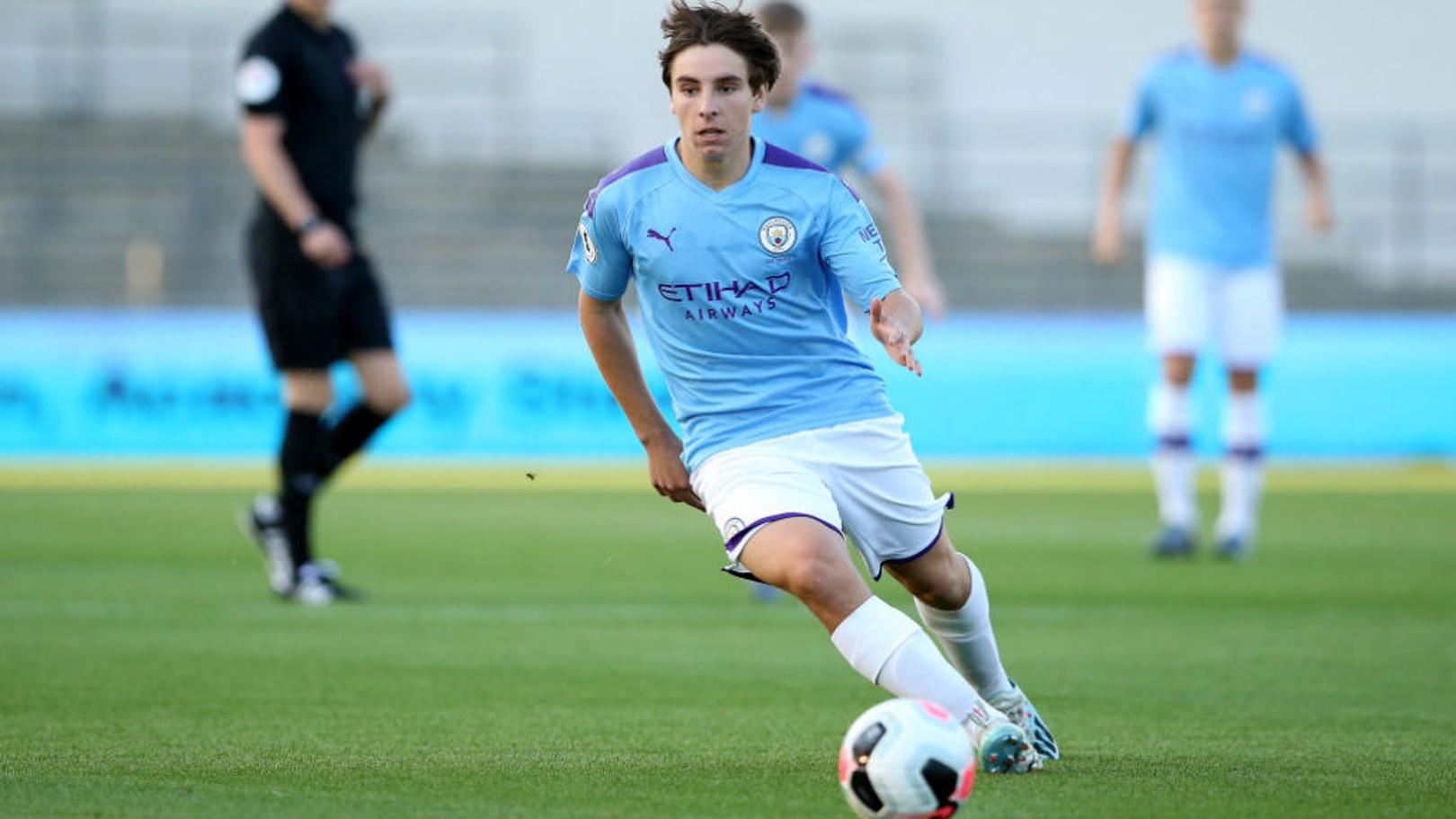 ON THE MARK: Adrian Bernabe scored City's second goal in our 2-0 Leasing.com Trophy win at Rochdale