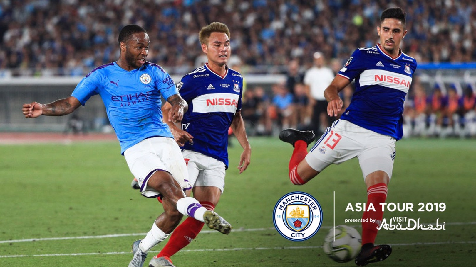 FANTASTIC 4: Sterling scored four goals in as many games during our Asia Tour