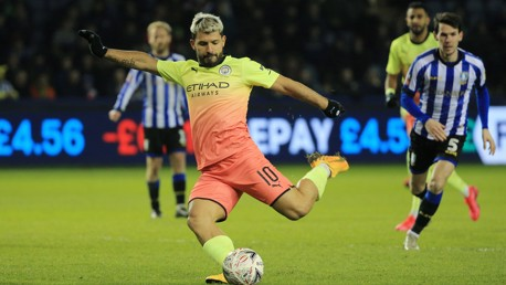 Sergio Aguero playing at Sheffield Wednesday