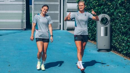 Olympians return to training