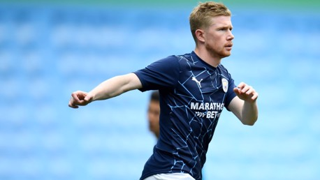 GET LOOSE: De Bruyne gets himself ready for the challenge ahead.