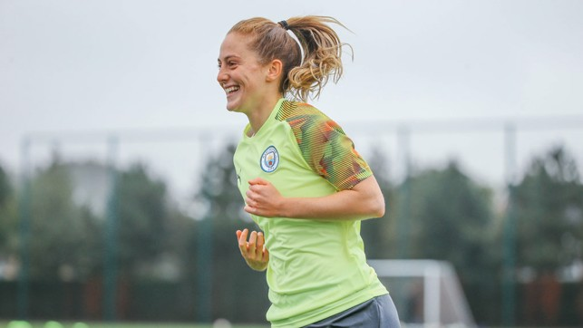 BRIGHT SPARK : An enjoyable session for Keira Walsh.