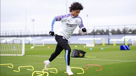 ROAD TO RECOVERY: Leroy Sane is back on the training field