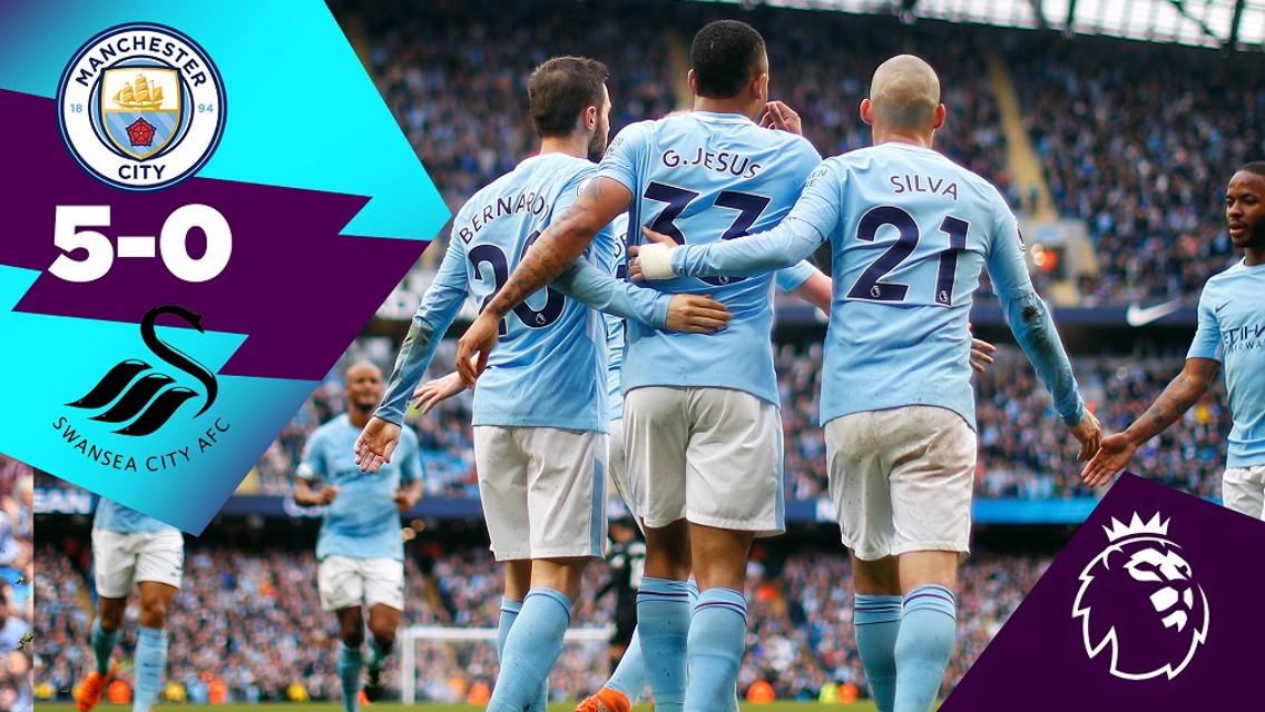 Classic highlights: City 5-0 Swansea