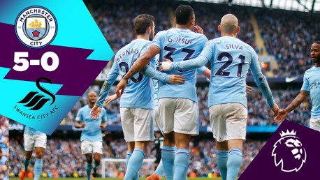 Classic highlights: City 5-0 Swansea
