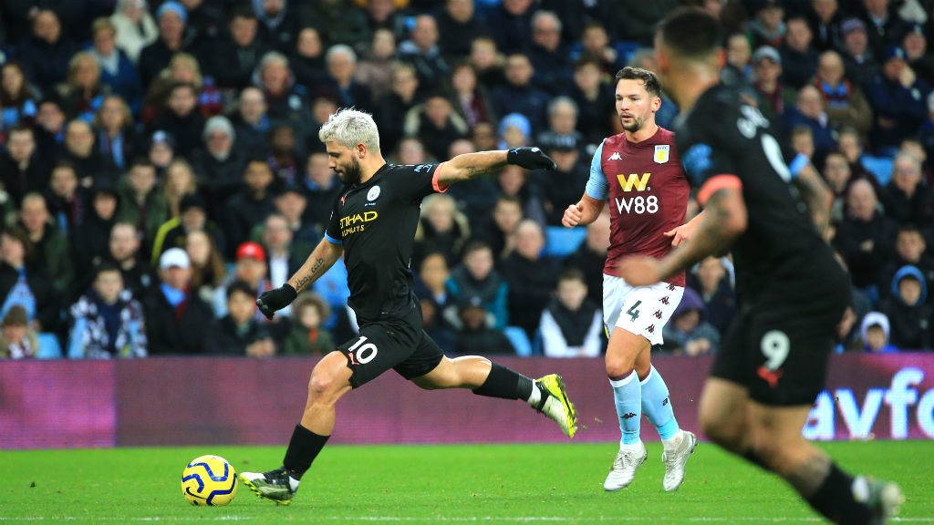LETHAL WEAPON : Sergio Aguero lets fly for City's third goal