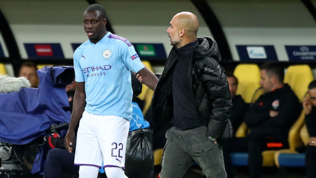 BACK IN BUSINESS : On a night of numerous positives Benjamin Mendy made a welcome return to action as a late substitute