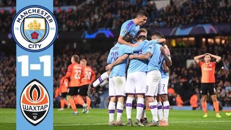 City 1-1 Shakhtar: Full match replay