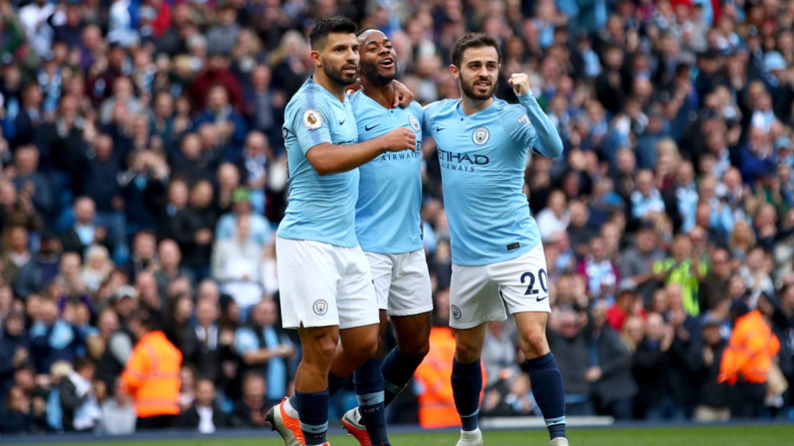 NOMINEES: Sergio Aguero, Bernardo Silva and Raheem Sterling are shortlisted for Premier League Player of the Season.