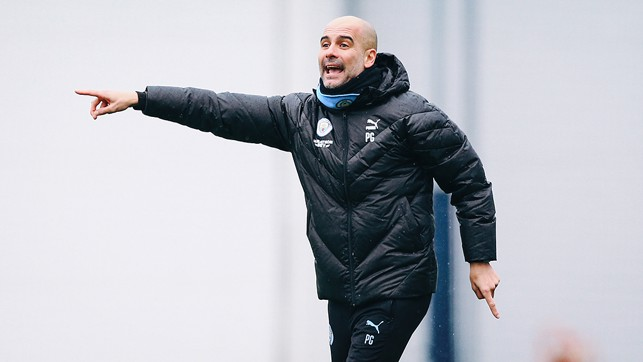 PEP TALK : The boss dishes out some instructions during the session
