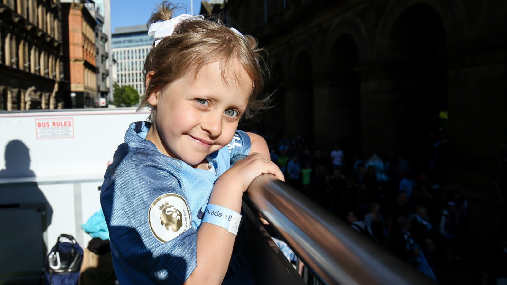 Brave young fans join City's champions parade
