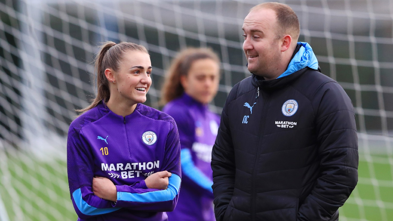 IMPRESSED: Nick Cushing has been pleased with Georgia Stanway's performances at right-back