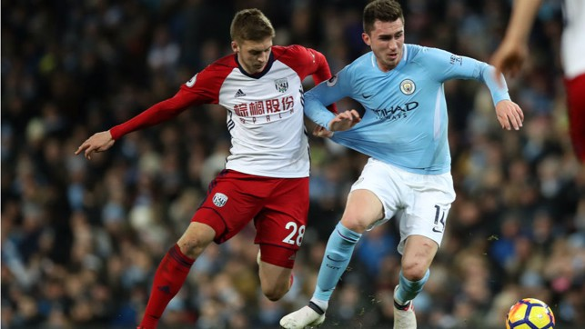 STARTER'S ORDERS : Aymeric Laporte produced a superb display on his debut against West Brom in January of last year