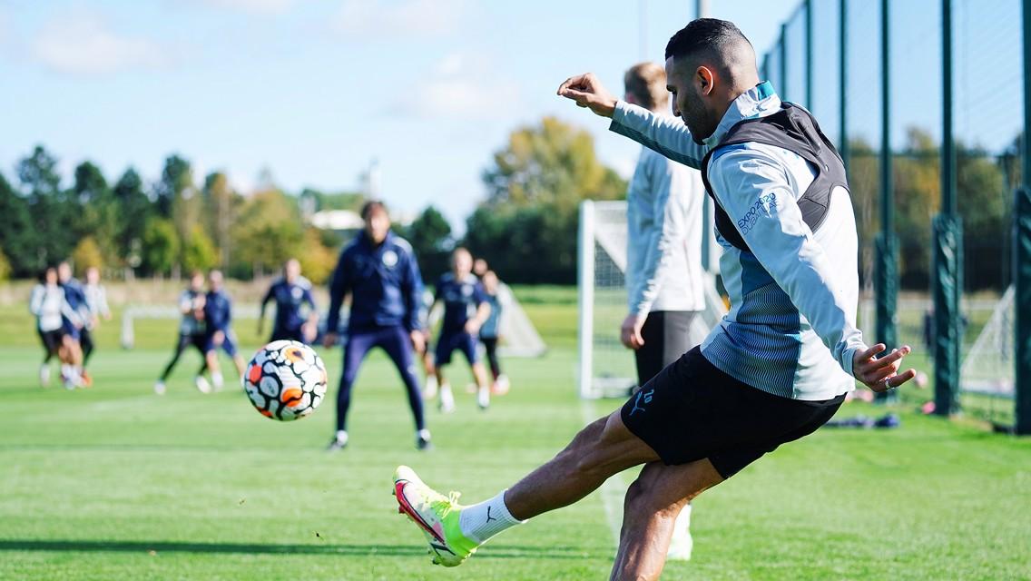 Training: City prepare for Burnley