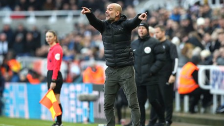PEP TALK: The boss points the way