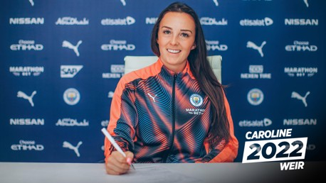 WONDERWEIR: Manchester City are delighted to announce Caroline Weir has committed her immediate future to the Club.