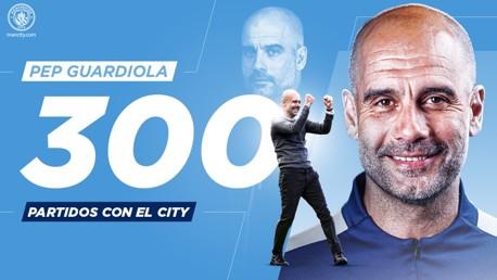 300 partidos de Pep Guardiola con el City