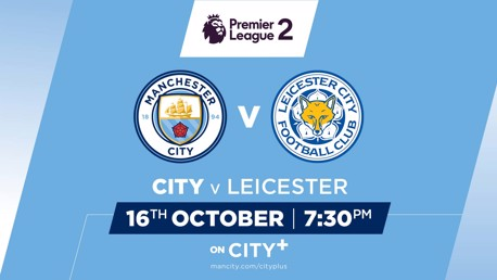 Watch City EDS v Leicester on CITY+