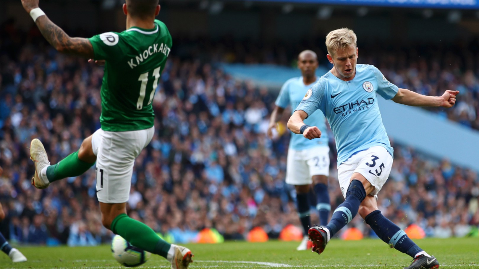 ZINC METTLE: Oleks Zinchenko hailed Pep Guardiola, following City's triumph over Brighton