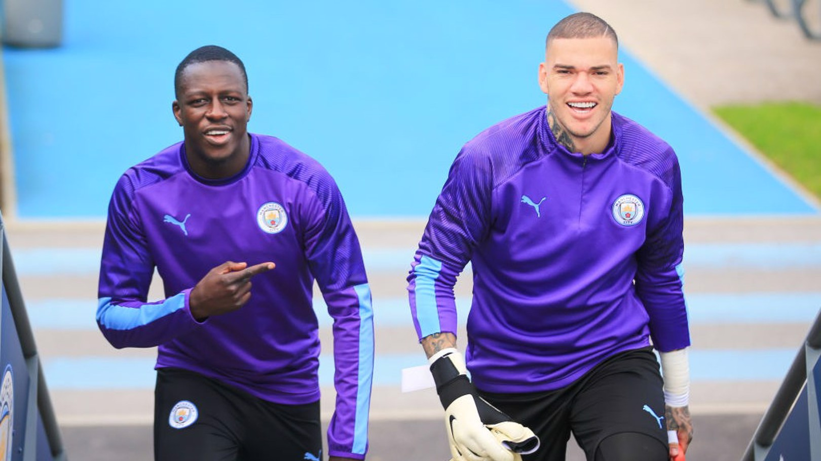 BACK: Ederson and Benjamin Mendy are back in the starting XI for Chelsea.