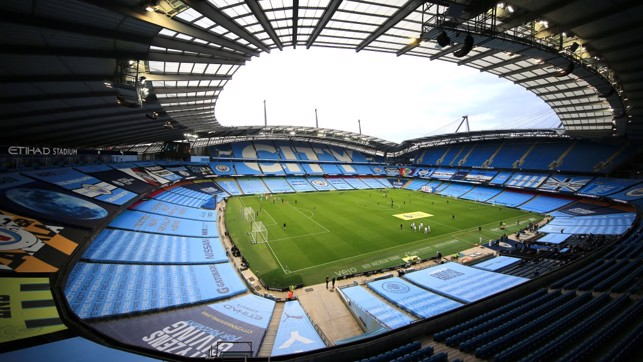 HOME : The Etihad looks as beautiful as always ahead of kick-off.