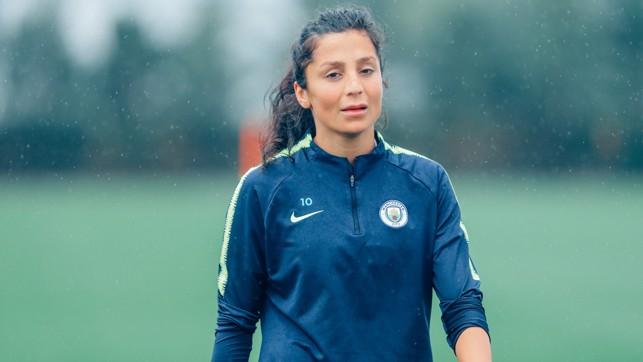 STRIKING FEAR : Nadia looks focused as we prepare for the new season