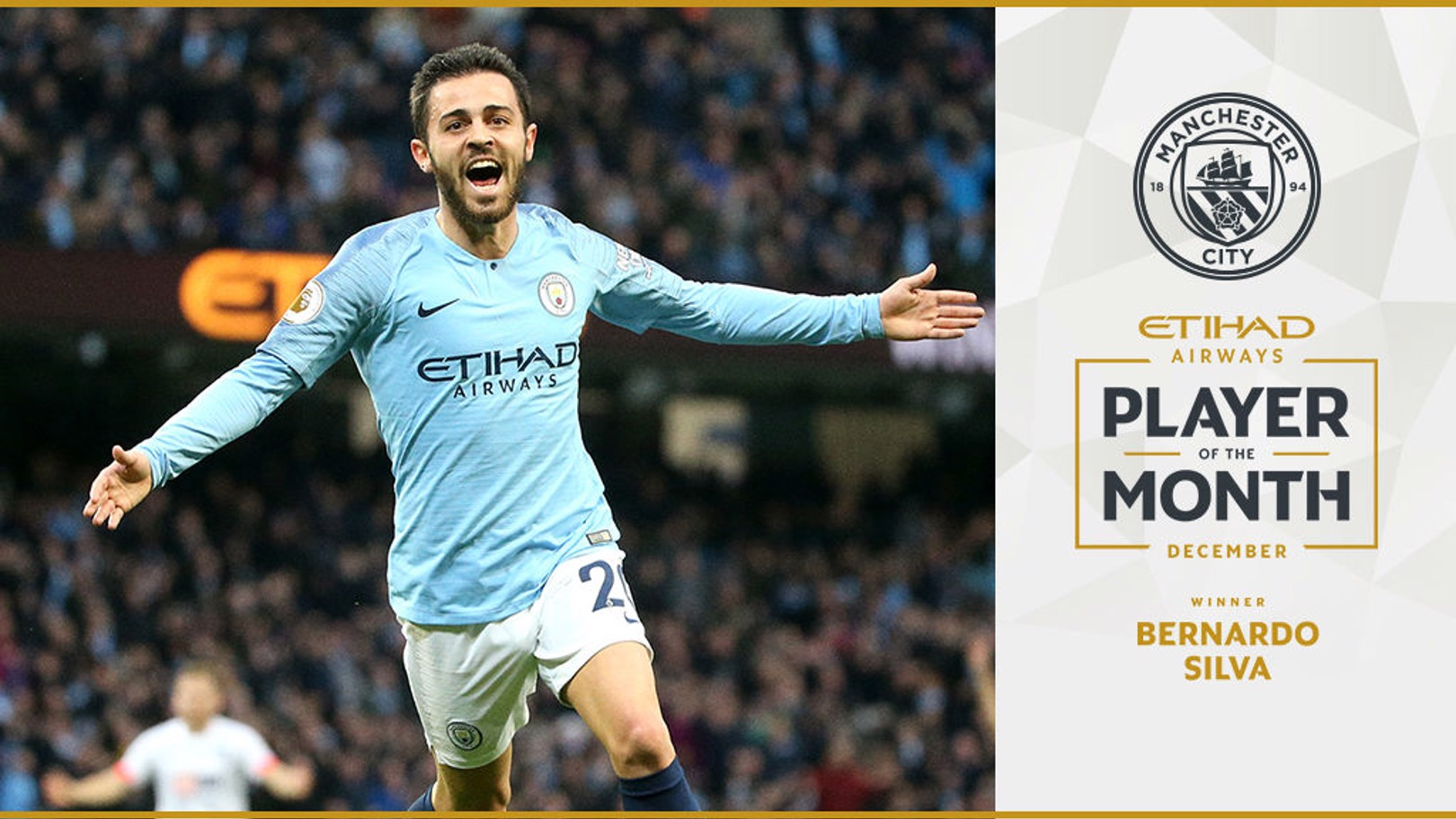 Bernardo voted Etihad Player of the Month