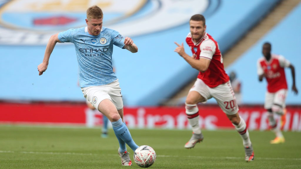 MIDFIELD ENGINE: Kevin De Bruyne drives forward
