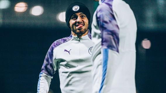CHEEKY: Bernardo in mischievous mood