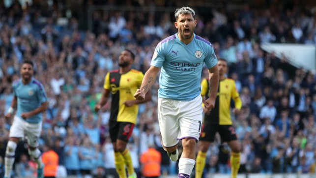100 UP : Sergio can't contain his joy after his extra special goal