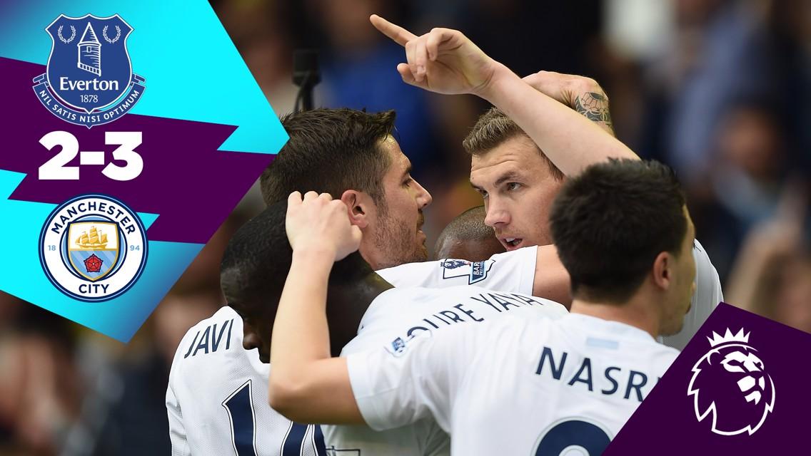 Classic highlights: Everton 2-3 City