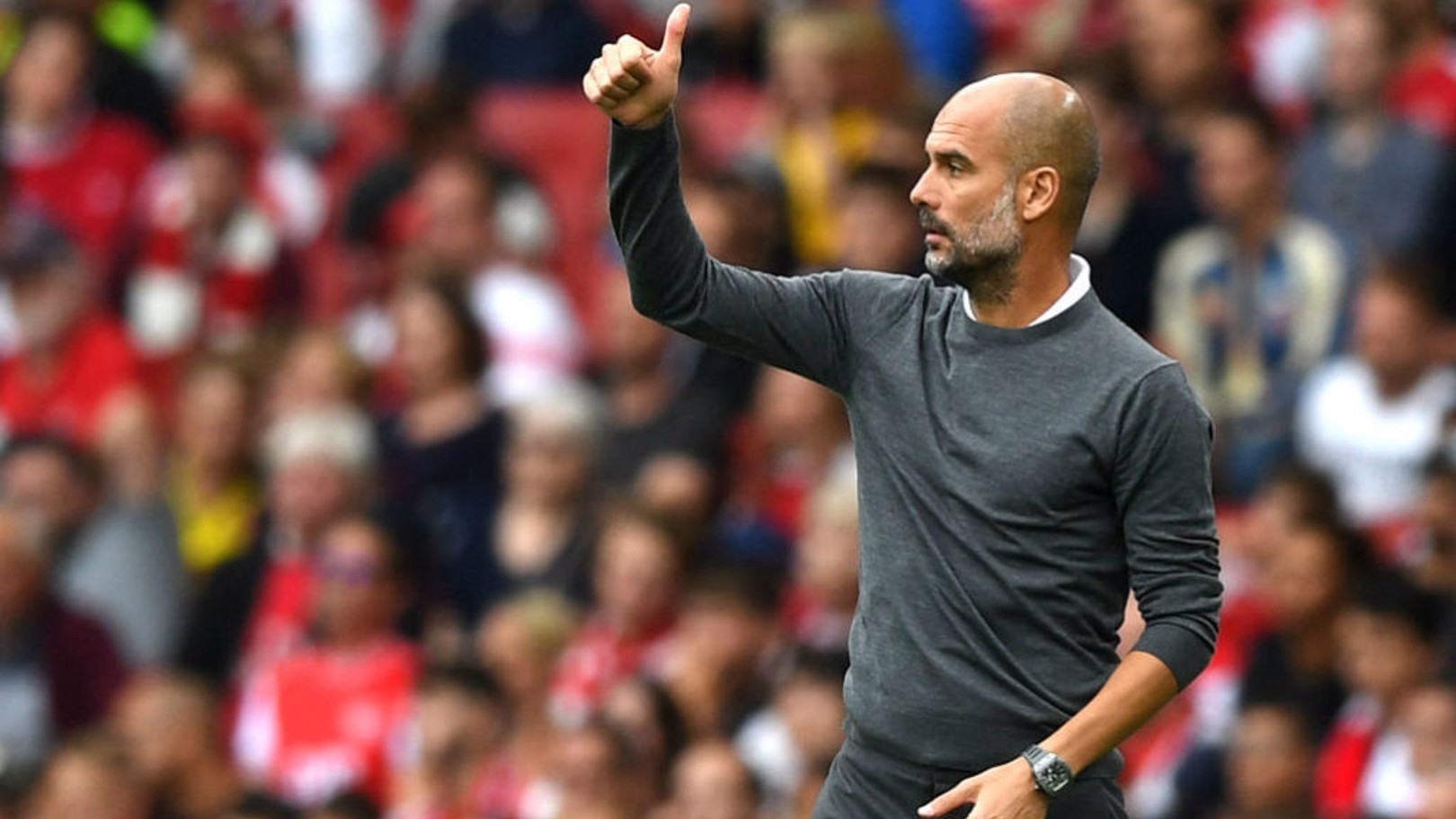 THUMBS UP: Pep's seal of approval.