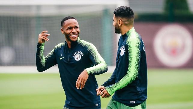 R&R : Sterling and Mahrez share a joke