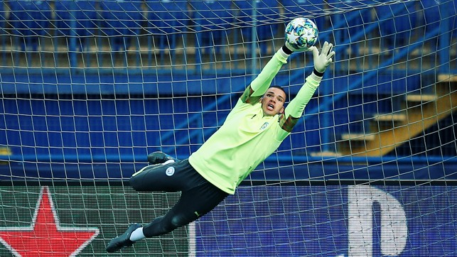 HAND IT TO EDERSON : Our Brazilian goalkeeping marvel flys high
