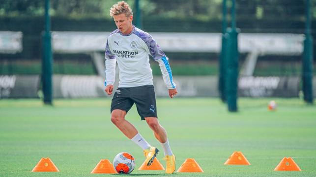 Oleksandr Zinchenko - back and working hard