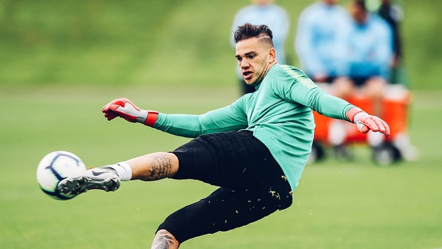 THE SIDEWINDER SLEEPS : Ederson produces yet another drop kick