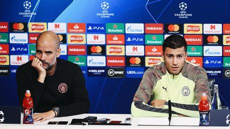Pep anima a la afición y Rodrigo elogia a Ferna