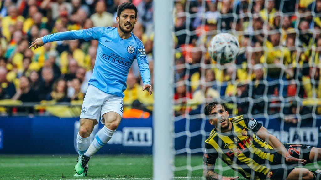 OUT THE BLOCKS : David Silva opens the scoring