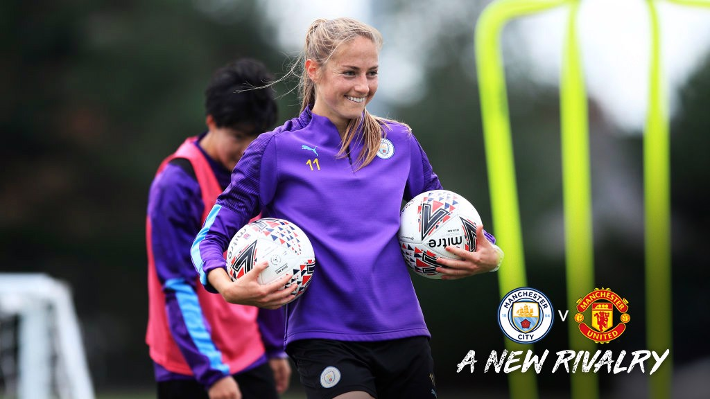 MATCH READY : Janine Beckie is looking forward to being part of the first Manchester derby in the FA WSL.