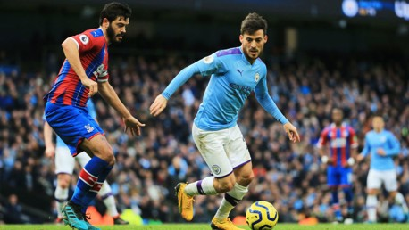 SKIPPER: El Mago looks to breach the rigid Palace defence in the first half.