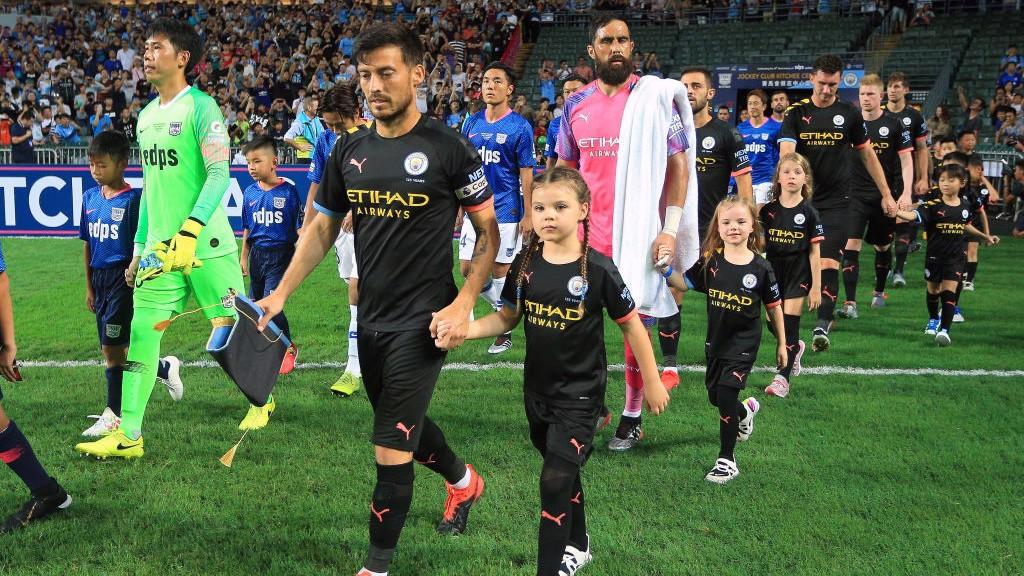 David Silva capitaneó nuevamente al Manchester City.