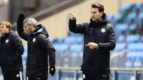FINAL POINTER: City Under 18s manager Gareth Taylor (right)